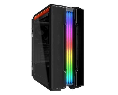 Gabinete Cougar Gemini T con Ventana RGB, Midi-Tower, ATX/CEB/Micro-ATX/Mini-ITX, USB 3.1, sin Fuente, Negro