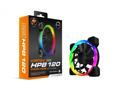 Ventilador Cougar Vortex RGB HPB 120, 120mm, 600 - 1500RPM, Negro