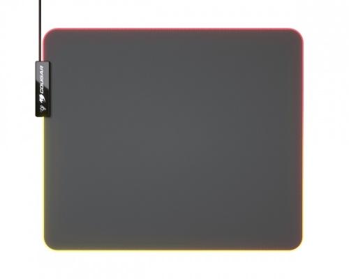 Mousepad Cougar NEON RGB, 35 x 30cm, Grosor 4mm, Negro