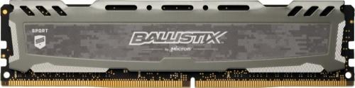 Memoria RAM Crucial Ballistix Sport LT Gray DDR4, 3200MHz, 8GB, Non-ECC, CL16, XMP, 1.35V