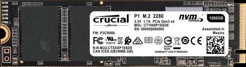 SSD Crucial P1, 1TB, PCI Express 3.0, M.2