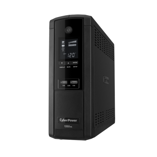 No Break CyberPower BRG1350AVRLCD, 810W, 1350VA, Entrada 90-148V, 12 Contactos