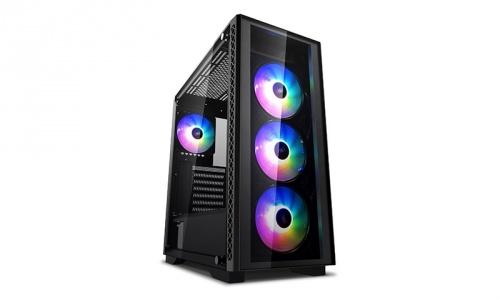 Gabinete DeepCool MATREXX 50 ADD-RGB 4F con Ventana, Midi-Tower/ATX/EATX/Micro ATX/Mini-ITX, USB 2.0/3.0, sin Fuente, Negro