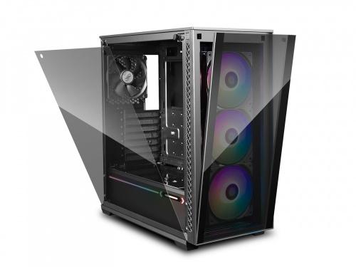 Gabinete DeepCool MATREXX 70 3F con Ventana RGB, Midi-Tower, E-ATX/ATX/Micro ATX/Mini-ITX, USB 2.0/3.0, sin Fuente, Negro