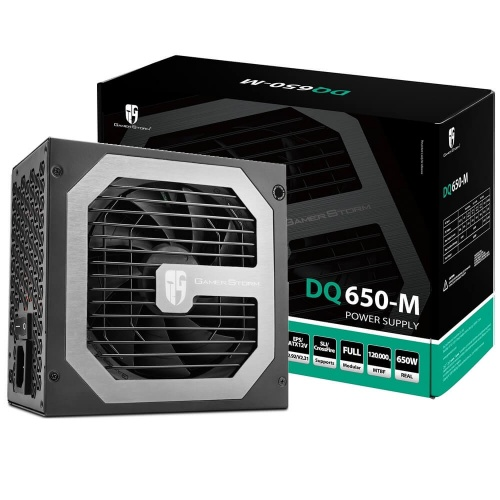Fuente de Poder DeepCool DQ650-M 80 PLUS Gold, ATX, 120mm, 650W