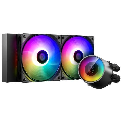 DeepCool Castle 240RGB V2 Enfriamiento Líquido para CPU, 2x 120mm, 500 - 1800RPM