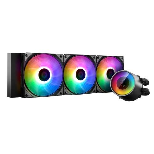 DeepCool Castle 360RGB V2 Enfriamiento Líquido para CPU, 3x 120mm, 500 - 1800RPM