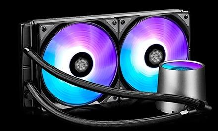 DeepCool Castle 280 RGB Enfriamiento Liquido para CPU, 2x 140mm, 500 - 1800RPM