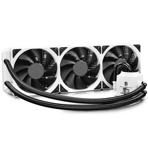 DeepCool CAPTAIN 360 EX WHITE RGB Enfriamiento Líquido para CPU, 3x 120mm, 500 - 1800RPM