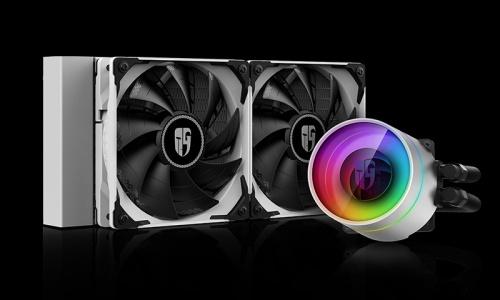 DeepCool CASTLE 240EX WHITE Enfriamiento Liquido para CPU, 2x 120mm, 500-1800RPM