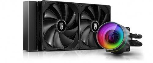 DeepCool Castle 280EX RGB Enfriamiento Liquido para CPU, 2x 140mm, 400 - 1600RPM, Negro