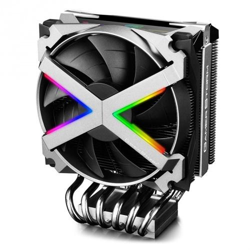 Disipador CPU DeepCool Fryzer, 120mm, 500 - 1800RPM, Negro/Plata
