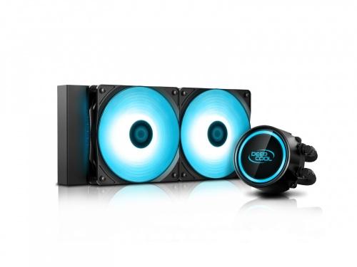 DeepCool GAMMAXX L240 V2 Enfriamiento Líquido para CPU, 2x 120mm, 500 - 1800RPM