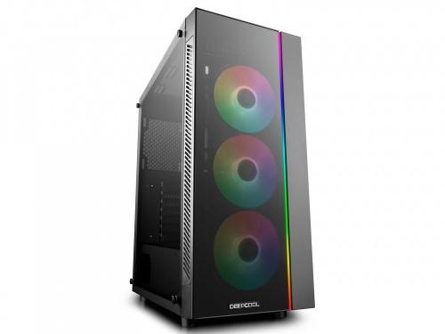 Gabinete DeepCool MATREXX 55 ADD-RGB 3F con Ventana, Midi-Tower, ATX/EATX/Micro ATX/Mini-ITX, USB 2.0/3.0, sin Fuentes, Negro