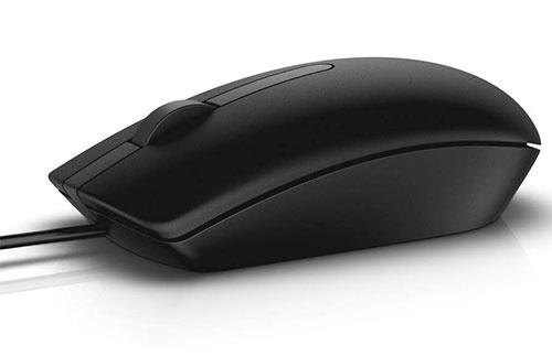 Mouse Dell Óptico MS116, Alámbrico, USB, 1000DPI, Negro