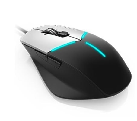 Mouse Gamer Alienware Óptico AW558, Alámbrico, USB, 5000DPI, Negro/Plata