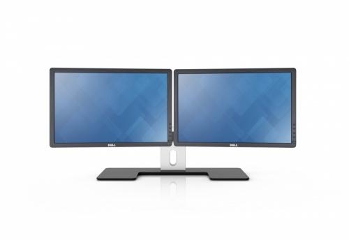 """Dell Soporte para 2 Monitores 24"""", Negro/Plata"""