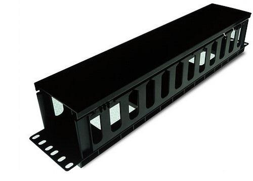 Derrant Organizador para Cables Horizontal, 2U, Negro