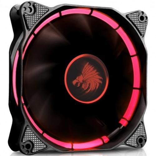 Ventilador Eagle Warrior Halo, LED Rojo, 120mm, 1200RPM, Negro