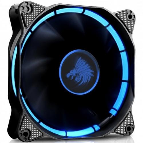 Ventilador Eagle Warrior Halo, LED Azul, 120mm, 1200RPM, Negro