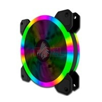 Ventilador Eagle Warrior Orion RGB, 120mm, 1200RPM, Negro