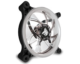 Ventilador Eagle Warrior Aurora LED Blanco, 120mm, 1200RPM, Negro
