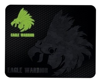 Mousepad Gamer Eagle Warrior, 32x26cm, Grosor 3mm, Negro