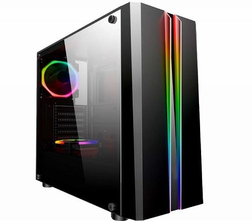 Gabinete Gaming Eagle Warrior Tlaloc con Ventana RGB, Tower, ATX/Micro-ATX, USB 2.0/3.1, sin Fuente, Negro