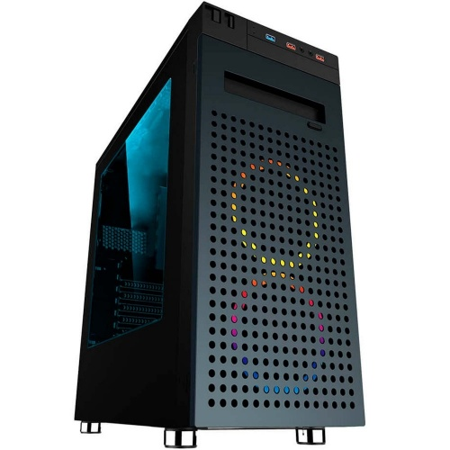 Gabinete Eagle Warrior Changes con Ventana RGB, Tower, ATX/Micro-ATX, USB 2.0/3.1, sin Fuente, Negro
