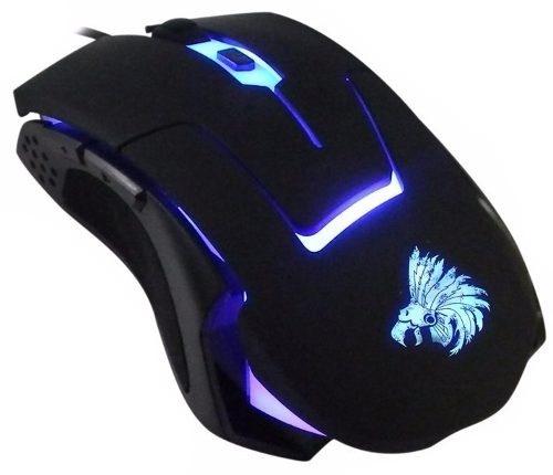Mouse Gamer Eagle Warrior Óptico G13, Alámbrico, 2400DPI, USB, Negro