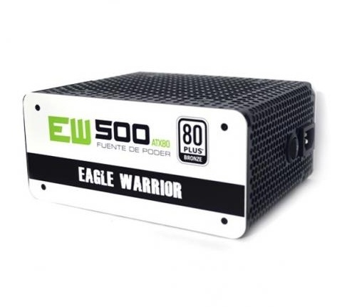Fuente de Poder Eagle Warrior EW500 ATX80 80 PLUS Bronze, 20+4 pin ATX, 120mm, 500W