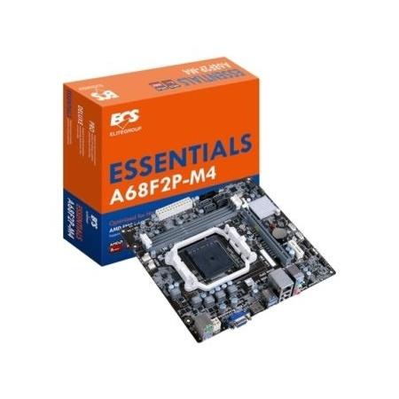 Tarjeta Madre ECS micro ATX A68F2P-M4 (V1.0), S-FM2+, AMD A68H, HDMI, 32GB DDR3, para AMD