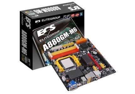 Tarjeta Madre ECS micro ATX A880GM-M6, S-AM3, AMD 880G, HDMI, 32GB DDR3, para AMD
