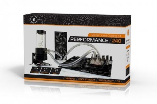 EK Water Blocks EK-KIT P240 Enfriamiento Liquido para CPU, 2x 120 120mm, 1850RPM