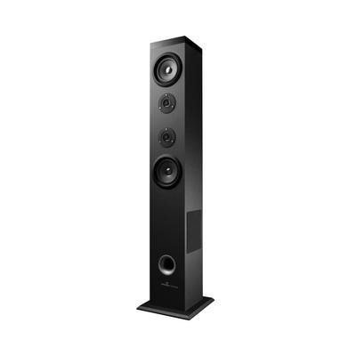 Energy Sistem Bocina Tipo Torre con Subwoofer Energy Tower 5, Bluetooth, Inalámbrico, 2.1, 60W RMS, USB 2.0, Negro