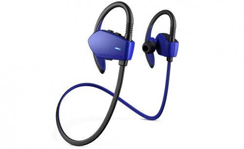 Energy Sistem Audífonos Intrauriculares con Micrófono Sport 1, Inalámbrico, Bluetooth, Negro/Azul