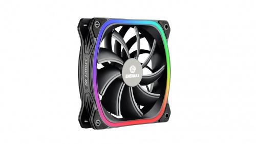 Enermax Ventilador SquA RGB, 120mm, 300 - 1500RPM, Negro - 3 Piezas