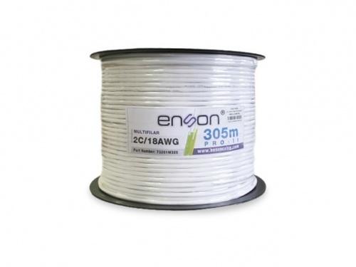 Enson Bobina de Cable Multifilar, 305 Metros, Blanco