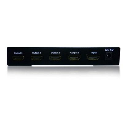 Enson Distribuidor HDMI, 1 Entrada, 4 Salidas, Negro