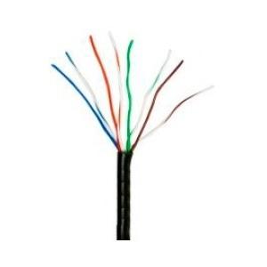 Enson Bobina de Cable Cat5e UTP, 4 Pares, 305 Metros, Negro