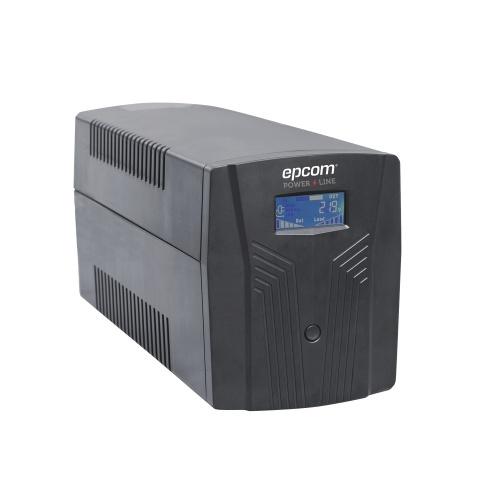 No Break Epcom EPU1200LCD Linea Interactiva, 720W, 1200VA, Salida 120V, 6 Contactos