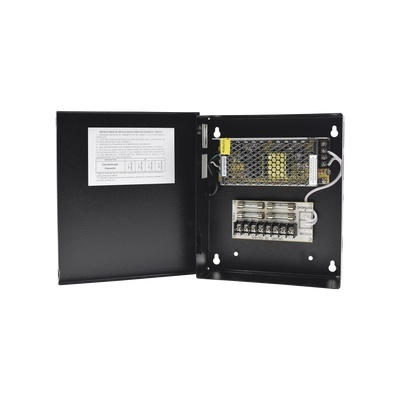 Epcom Fuente de Poder para Cámara, 4 Canales, Entrada 90 - 264V, Salida 11.4 - 13.2V ,5A