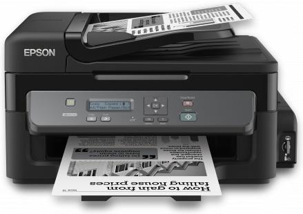 Multifuncional Epson WorkForce M200, Blanco y Negro, Inyección, Tanque de Tinta (EcoTank), Print/Scan