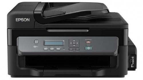 Multifuncional Epson EcoTank WorkForce M205, Blanco y Negro, Inyección, Tanque de Tinta, Inalámbrico, Print/Scan/Copy