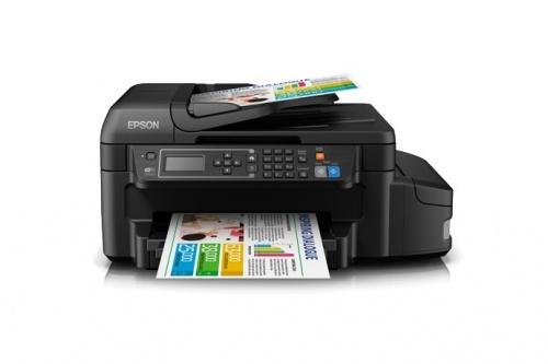 Multifuncional Epson EcoTank L655, Color, Inyección, Tanque de Tinta, Inalámbrico, Print/Scan/Copy