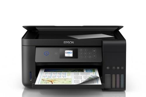 Multifuncional Epson EcoTank L4160, Color, Inyección, Tanque de Tinta, Inalámbrico, Print/Scan/Copy