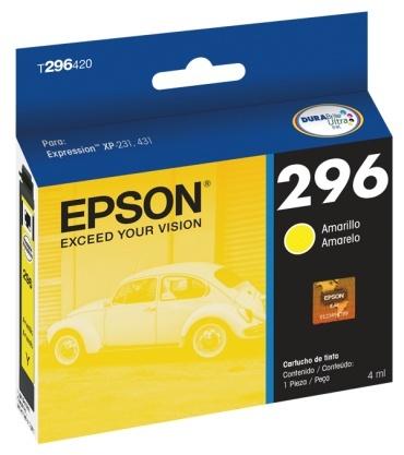 Cartucho Epson 296 Amarillo 4ml 250 Páginas