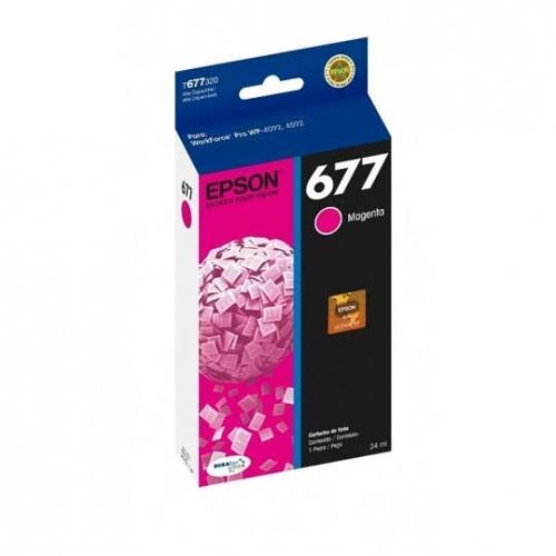 Cartucho Epson 677 Magenta, 3400 Páginas