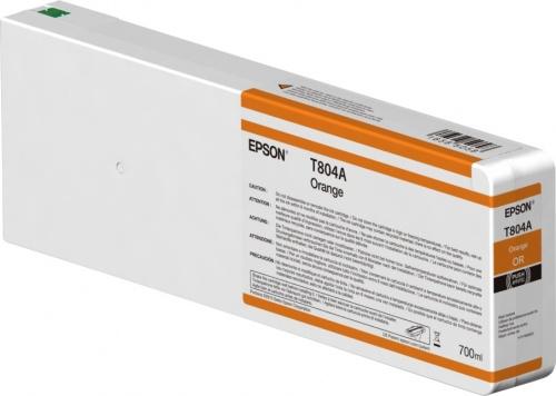 Cartucho Epson T804A00 Naranja UltraChrome HDX 700ml