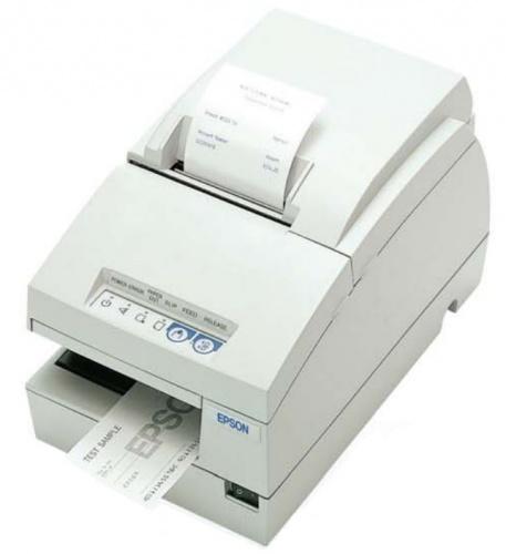 Epson TM-U675-023, Impresora de Multifunción incl. Cheques, Matriz de Puntos, Alámbrico, USB, Blanco